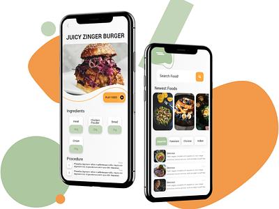 Food App UI mockup design ux ui ui design ui  ux foodui food ios uiux uidesign dark ui category card apple app design app android