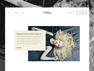 Live or Dye salon design concept ui