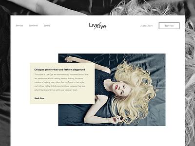 Live or Dye salon design concept ui