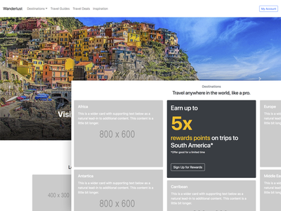 Wanderlust Homepage designers that code html ux prototyping bootstrap tutorial