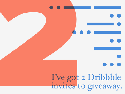 Looking for a Dribbble Invite? morse code invite