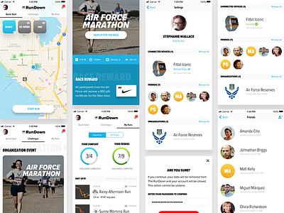 The RunDown fitness app mobile