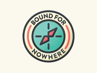 Bound For Nowhere vanlife travel badge logo