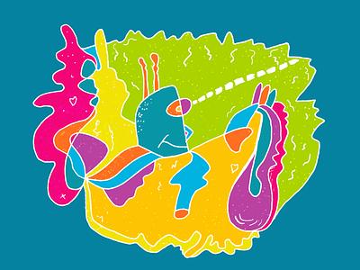Robot Lust color trends robot illustration doodle