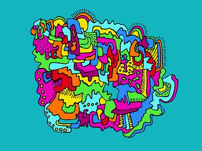 Unidentified Mountain Top sketchbook adobe capture illustrator colorful illustraion drawing doodle