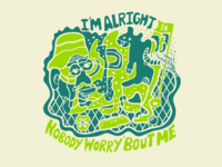 I'm alright nobody worry 'bout me - Caddyshack doodle