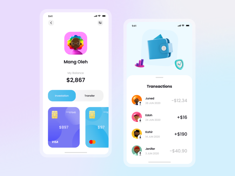 Acis - Financial Mobile App app ui money money app bank finance illustration minimalist ui mobile app mobile