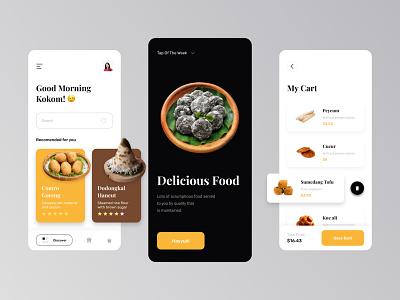 Nyaneut - MahFood Mobile App nyaneut app clean design food app mobile design mobile ui mobile app