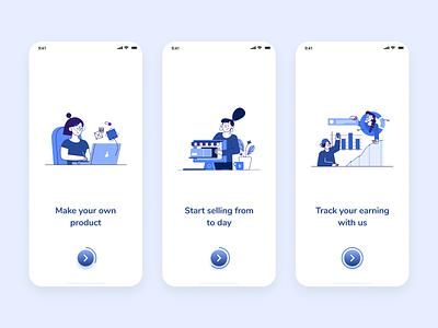 Dagang - E-Commerce Onboarding Mobile App online shop shop market marketplace marketing selling dagang app blue clean app ecommerce mobile app design mobile app mobile ui