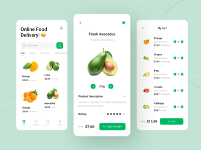 Cacapluk - Online Food Delivery Mobile App drink food app money web grocery app food app ui food clean design mobile app ui mobile design minimalist mobile ui mobile app