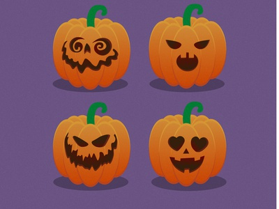 funny spooky pumpkins spooky season spooky holiday pumpkin halloween character vector illustration