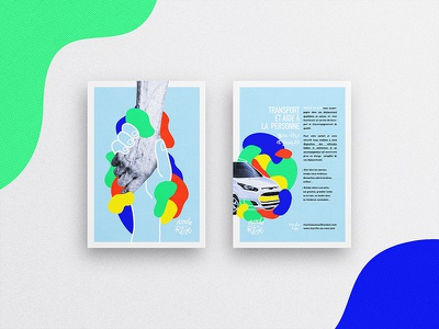 Marche ou Rêve yellow blue pattern brand flyer colors association abstract