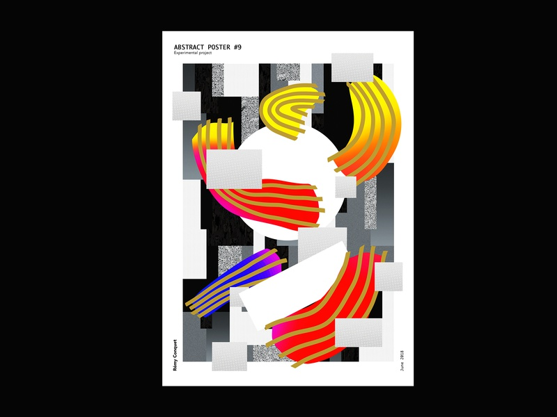 Abstract Poster 9 By Conquet Remy On Dribbble