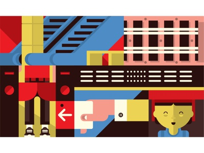 Tracing our Tracks - N°1 mrt trains singapore flat vector design illustration