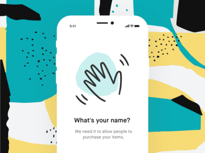 What's your name? geometry app flat brush pattern 80s typography brand branding ui ux illustration minimal vinted graphic simple