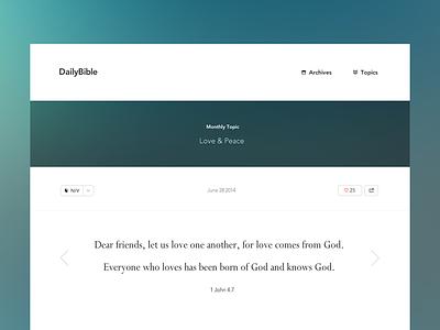 Daily Bible bible quote web ui christian