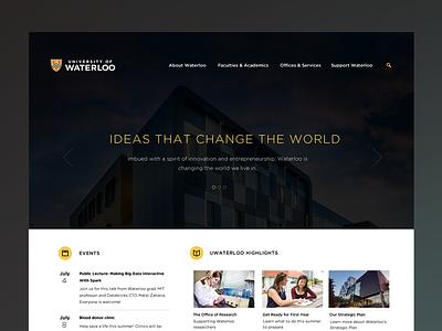 University of Waterloo Concept university waterloo concept web ui website