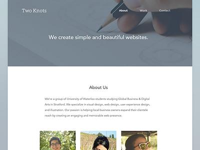 Two Knots web ui agency website