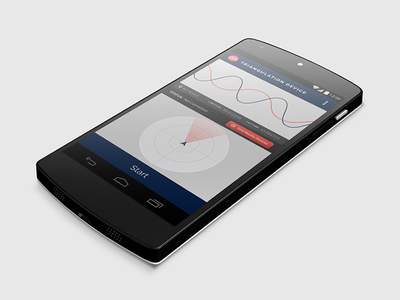 Triangulation Device gps android mobile app