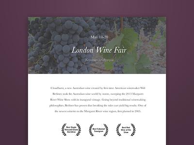 Cloudburst Invitation ui wine invitation interface web