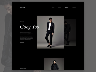 Mind Bridge Profile  fashion web minimal
