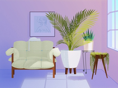 Sofa and flowers 13