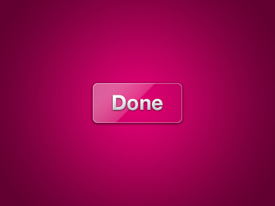 Done Button done button purple glass reflection ui pink