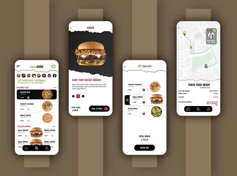 Food Delivery - Mobile App android ui food delivery app food app food logo illustration ux ui design app vector app design iphone ui