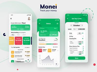 Monei - Money Management Apps settings ui form mobile finance app ux design ux ui