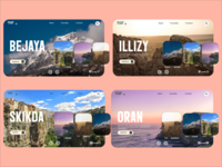 Discover Algeria : Travel website concept. travel website algeria travel website design website web designer web design web ui  ux uiux uidesign ui clean design clean