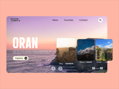"Discover Algeria : Travel website concept ""Oran"" ui uidesign travelwebsite travel algeria website design website web designer web design ui  ux uiux clean design clean"