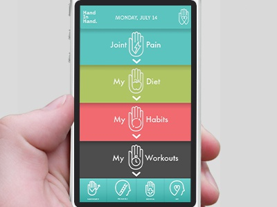 Hand In Hand - App for Tracking Arthritis Pain