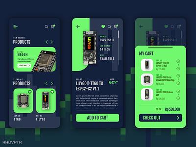 Board Shop App figma vector branding minimal flat design art ui illustration app iot