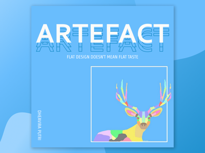 Artefact: Just an art with the fact and combined it abstract portofolio mockup app web instagram figma adobe photoshop icon typography vector logo flat design art illustration