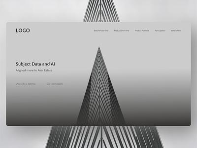 Landing page Website minimal design branding logo ui flatdesign realistic adobe xd parallax website design website monochrome