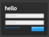Yet another login form.