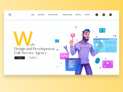 Web Development Agency Landing Page whitespace gradient webui uidesign websiteui ui design uiuxdesign cleandesign adobexd uiux ux ui