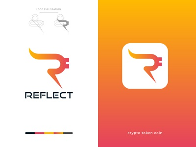 Modern, Abstract Initial Letter Mark R Letter Logo Design! colorful logo initial logo lettering r lettr r lettr bitcoins simple logo modern logo abstract logo lettermark vector logo brand minimalist logo minimal corporate design branding brand identity ai logodesign logo