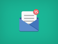 Icon Mail icon mail simple flat
