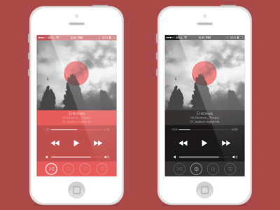 Player for Ios7ver 2 Screen
