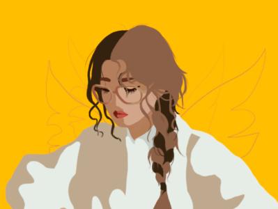 flat girl girl flatdesign flat illustration illustration design