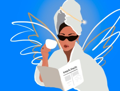 flat angel girl girl flat illustration flatdesign illustration design