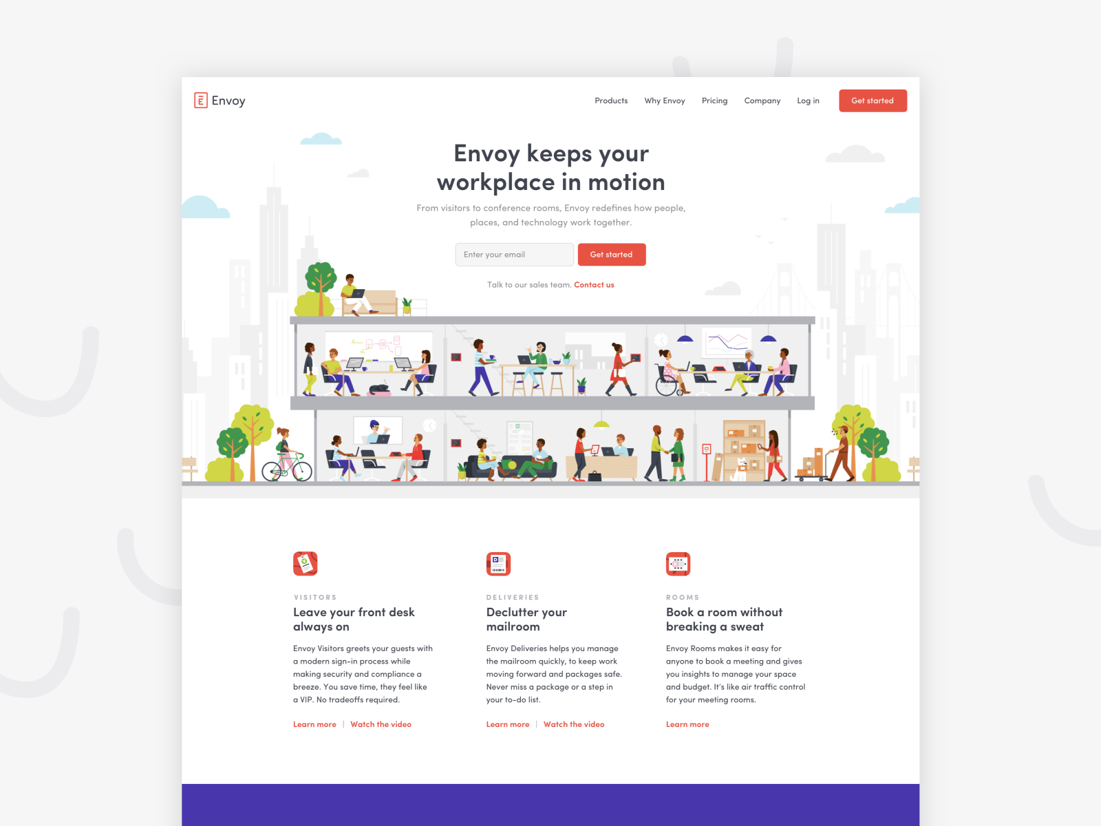Brand New Homepage By Amy Devereux For Envoy On Dribbble