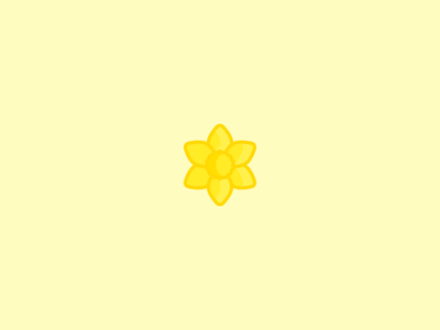 February 20: Daffodil spring flower daffodil icon daily icon diary 365cons