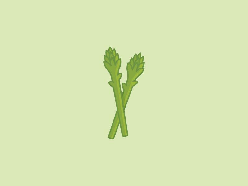 August 29: Asparagus greens vegetable veggie asparagus icon daily icon diary 365cons