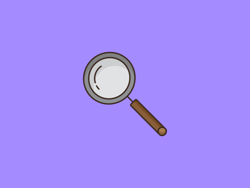 August 30: Magnifying Glass detective magnifying glass icon daily icon diary 365cons