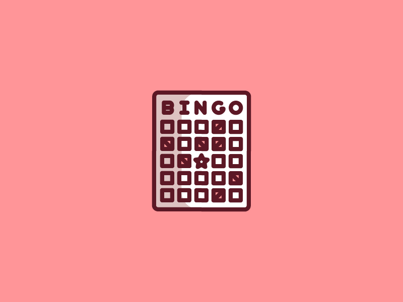 October 19: Bingo luck presidential elderly game card bingo icon daily icon diary 365cons