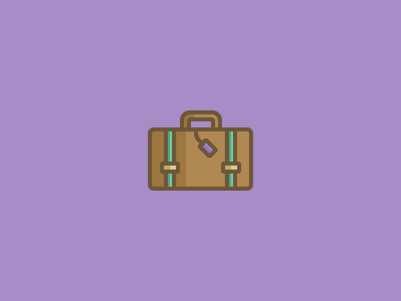 November 18: Suitcase travel briefcase case luggage suitcase icon daily icon diary 365cons