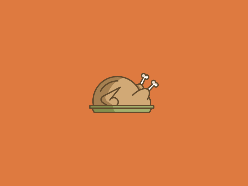 November 19: Friendsgiving chicken holiday platter thanksgiving turkey icon daily icon diary 365cons