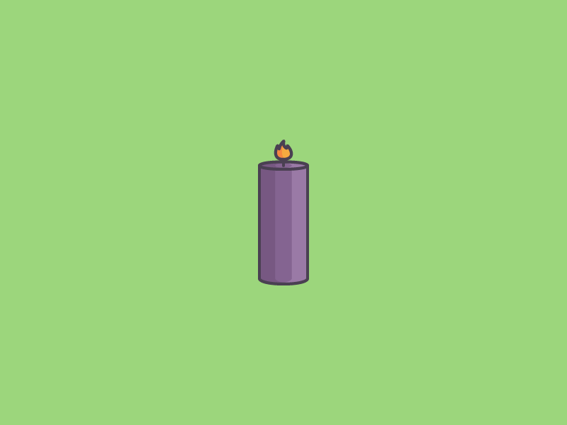 November 20: Candle Shopping light burn wick flame candle icon daily icon diary 365cons